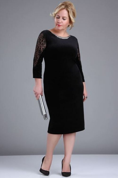 outfit vestido negro formal gordita