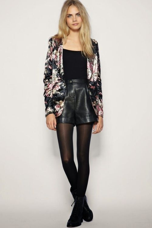 outfit short negro noche
